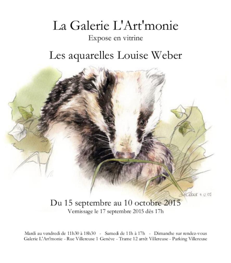 Invitation Galerie l'Art'monie